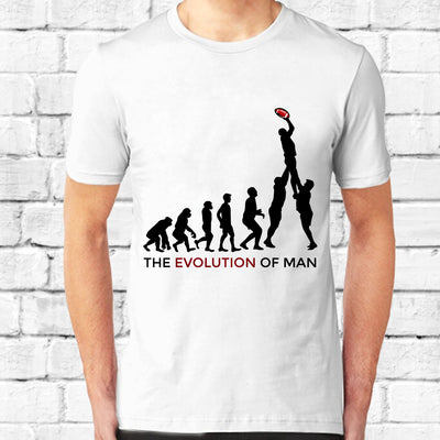 The Evolution of Man Welsh Rugby T-shirt