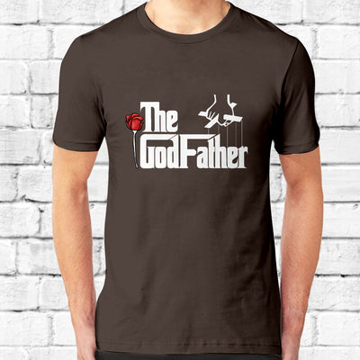 GodFather White Text T-Shirt