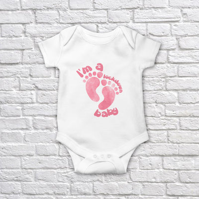 I'm a Lockdown Baby Pink Classic Baby Onesie Bodysuit