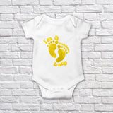 Product of Lockdown Yellow Baby Onesie Bodysuit