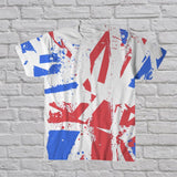 Distorted Union Jack All Over Print T-Shirt