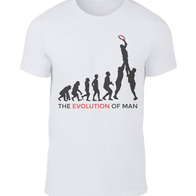 The Evolution of Man England Rugby T-shirt