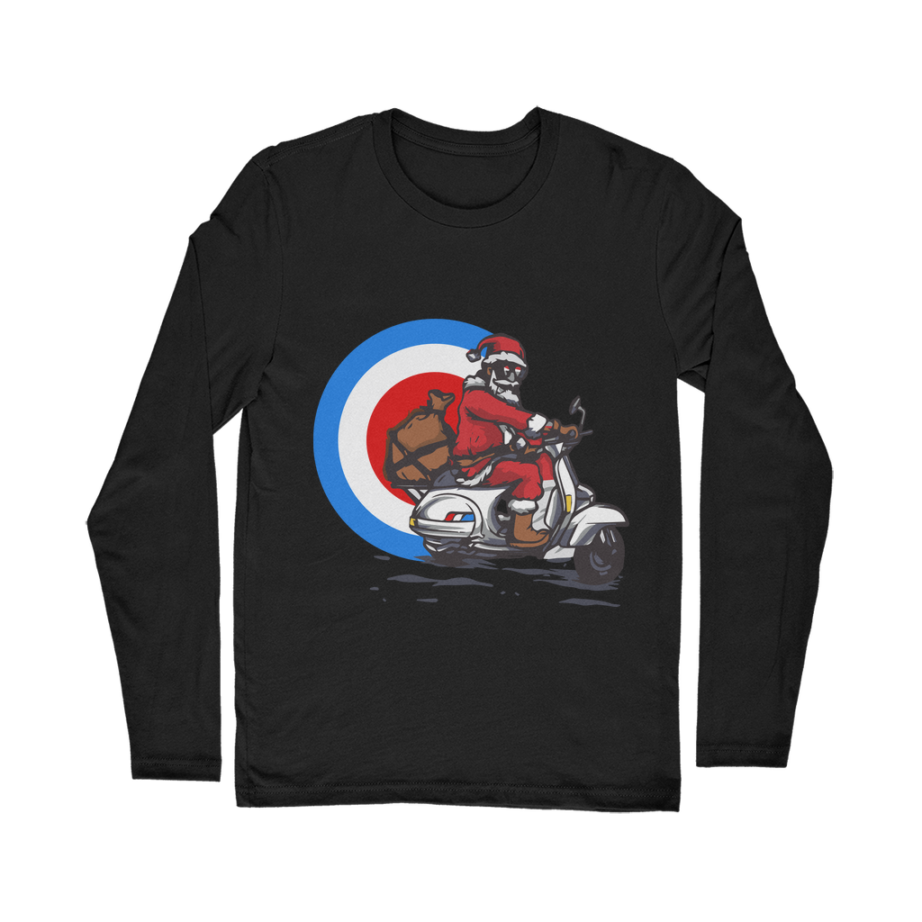 Mod Santa Giving Presents Classic Long Sleeve T-Shirt