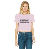 Not Average Women's Cropped Raw Edge T-Shirt