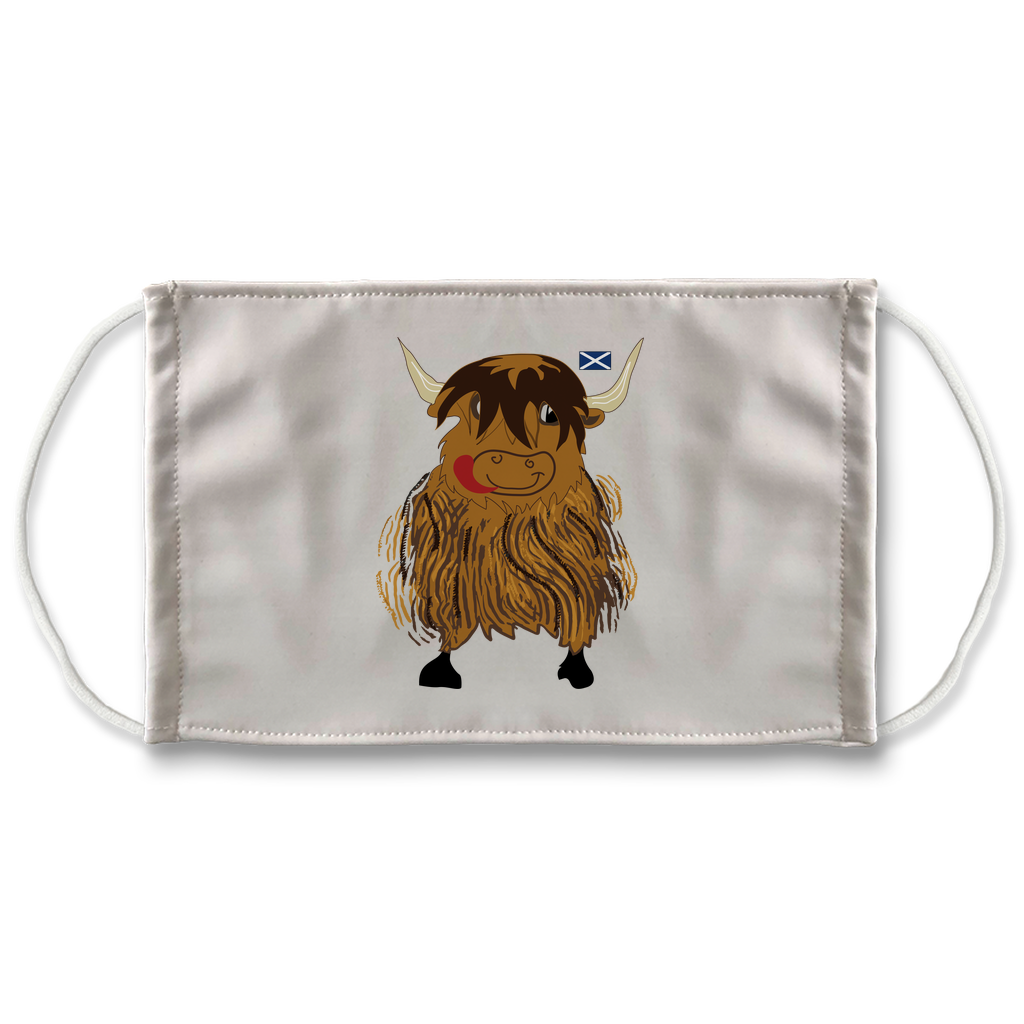 Hairy Coo Kids Sublimation Face Mask
