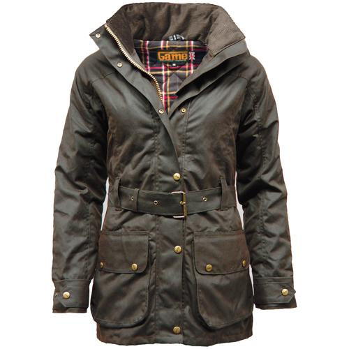 Game Cantrell Padded Antique Waxed Jacket