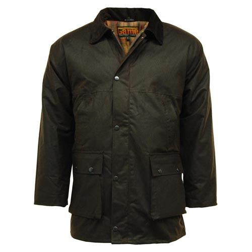 Game Classic Padded Wax Jacket up to 5XL