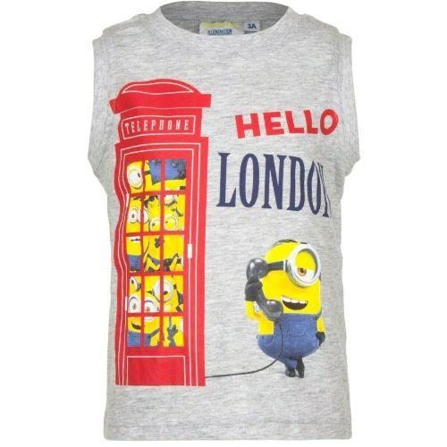 Boys Licenced Minions Sleeveless Top