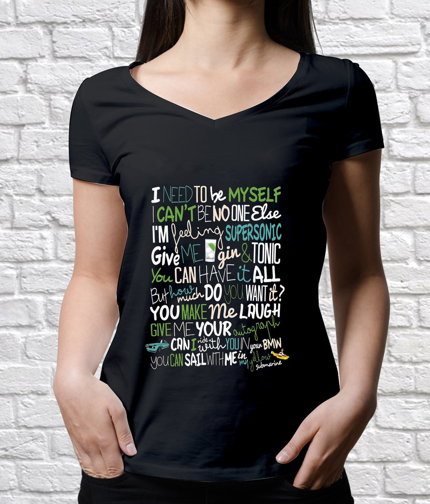 Oasis Inspired Lyrics T-Shirt