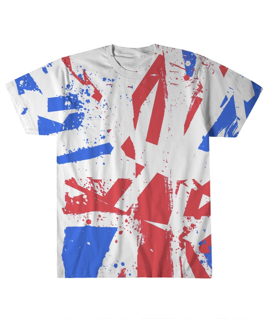 T-shirt - Distorted Union Jack All Over Print T-Shirt