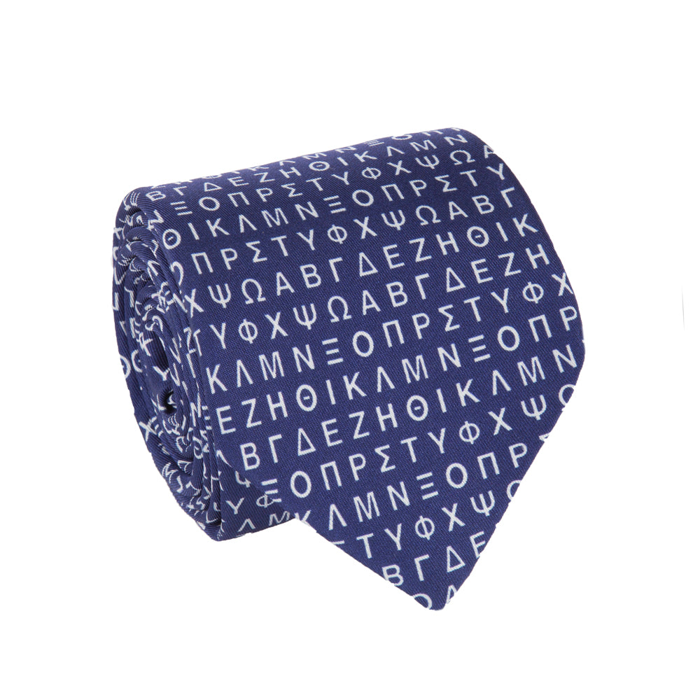 GREEK ALPHABET TIE (CAPITAL LETTERS) - Thalassa Collection