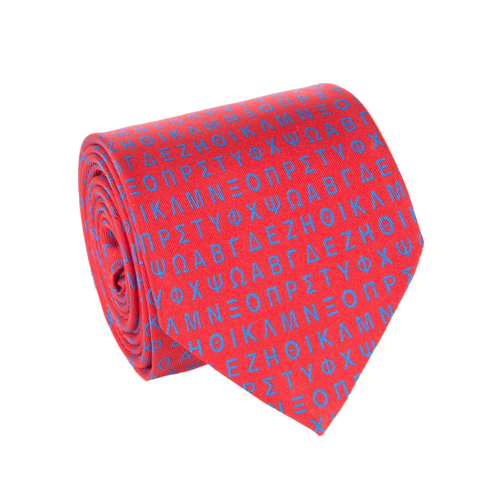 GREEK ALPHABET TIE (CAPITAL LETTERS)