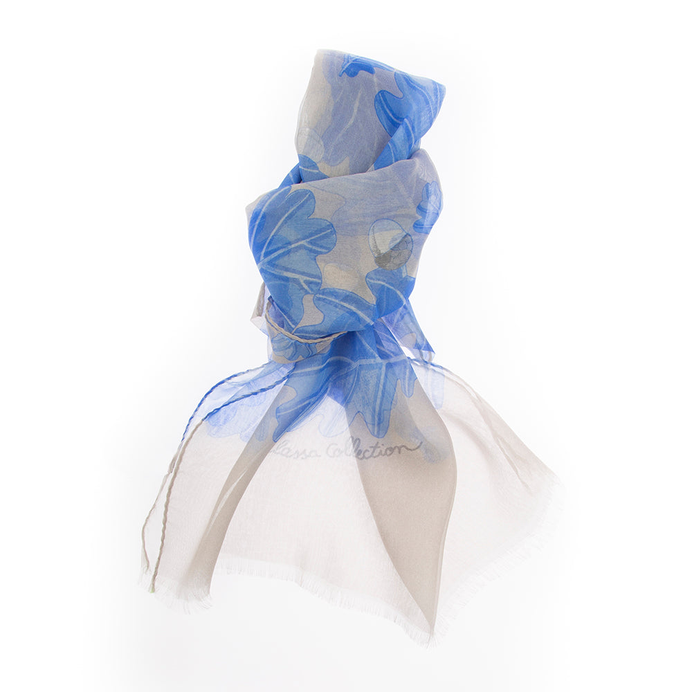 OAK LEAVES CHIFFON SCARF