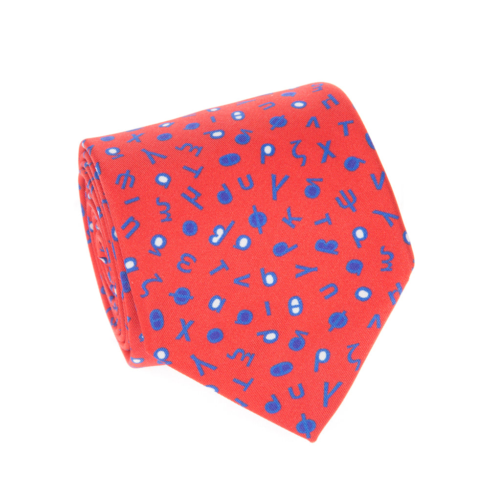 GREEK ALPHABET TIE (LOWER CASE LETTERS) - Thalassa Collection