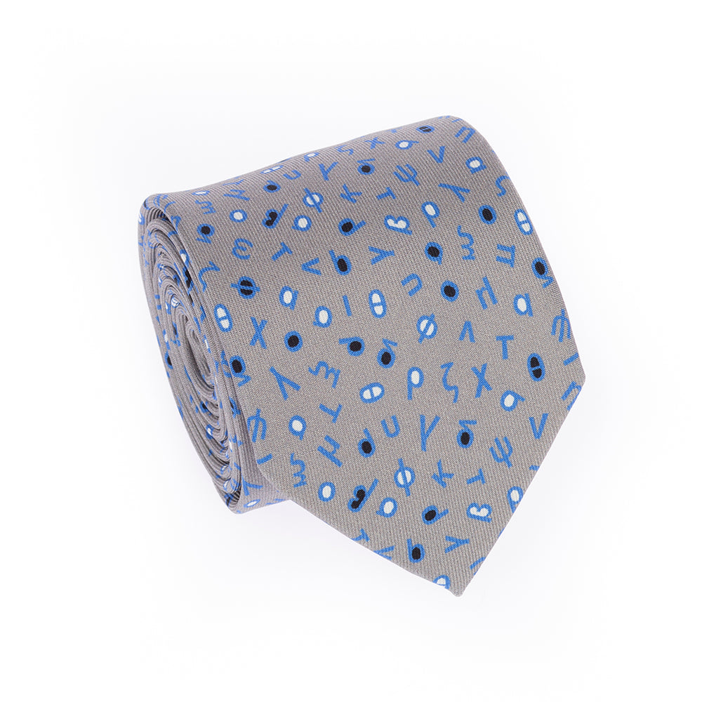 GREEK ALPHABET TIE (LOWER CASE LETTERS)