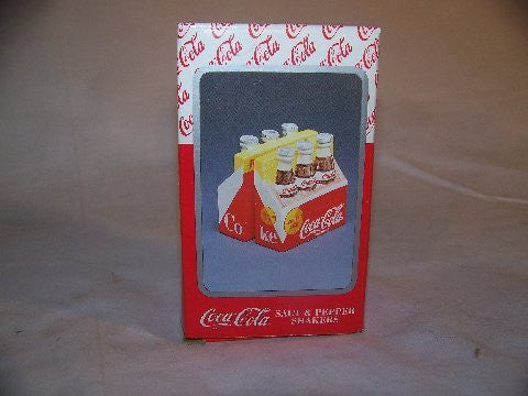 Coca-Cola Salt & Pepper Shakers Six Pack