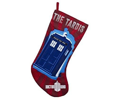 Kurt Adler Red Doctor Who Tardis Applique Stocking