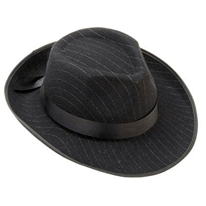 Men's Pinstriped Fedora Hat