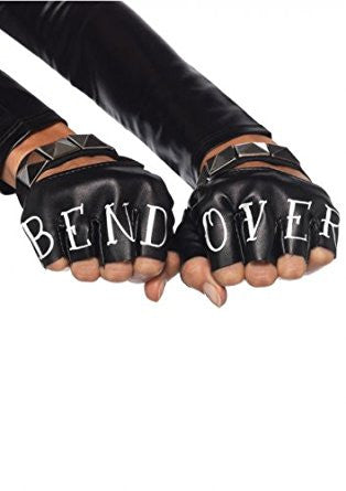 Leg Avenue Women's Faux Leather Bend Over Gloves