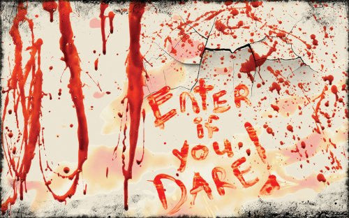 "LaboraGory Enter if you Dare 24"" Bloody Doormat"