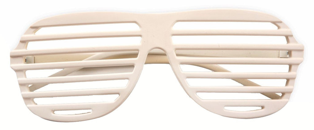 80's to the Max Shutter Shades - White