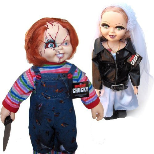 "Bride of Chucky Tiffany & Chucky 26"" Plush Doll Set"