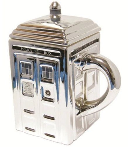 Doctor Who Tardis 3D Ceramic Silver Mug