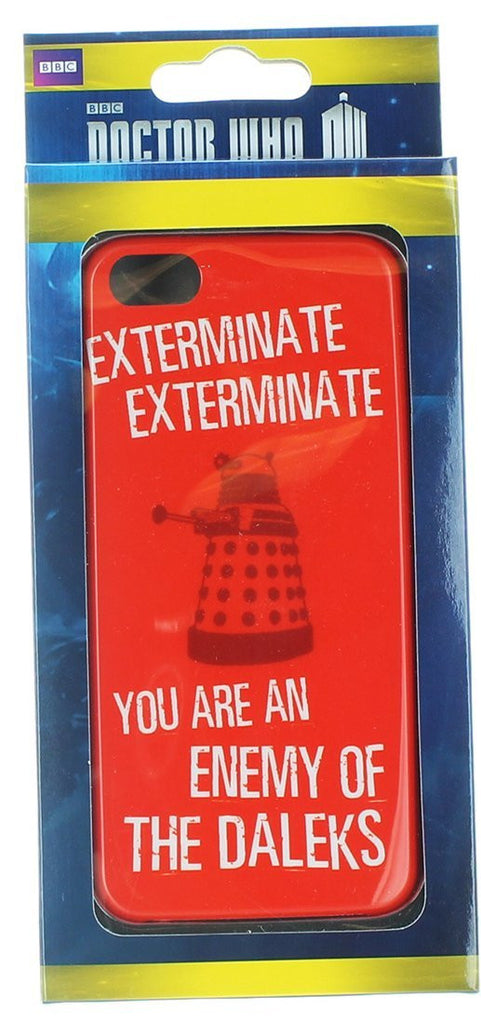 Doctor Who Red Dalek Exterminate Iphone 5/5s Hard Snap Case