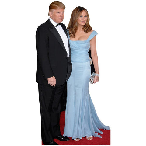 President Trump and First Lady Melania Cardboard Cutout Standup