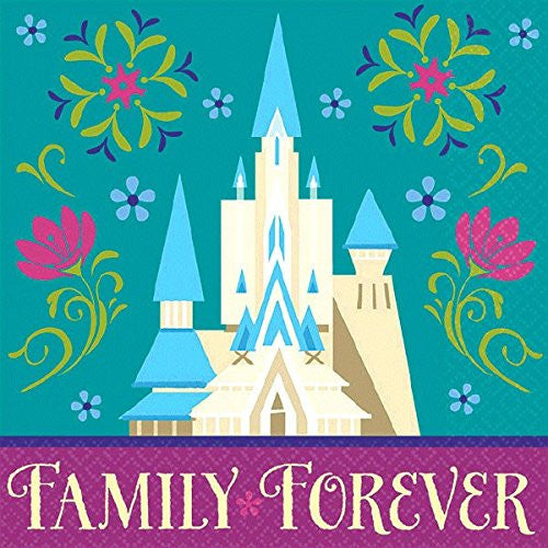Disney Frozen Birthday Party Beverage Napkins (16 Pack)