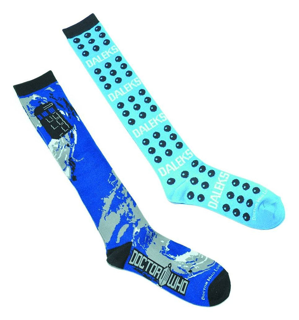 Doctor Who Dalek Dots Knee High Socks