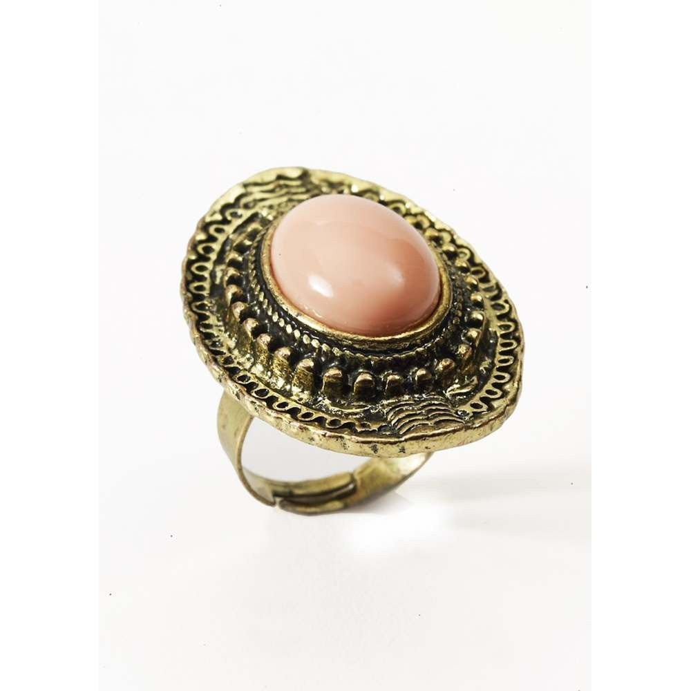 Costume Jewellery Pink Stone Ring