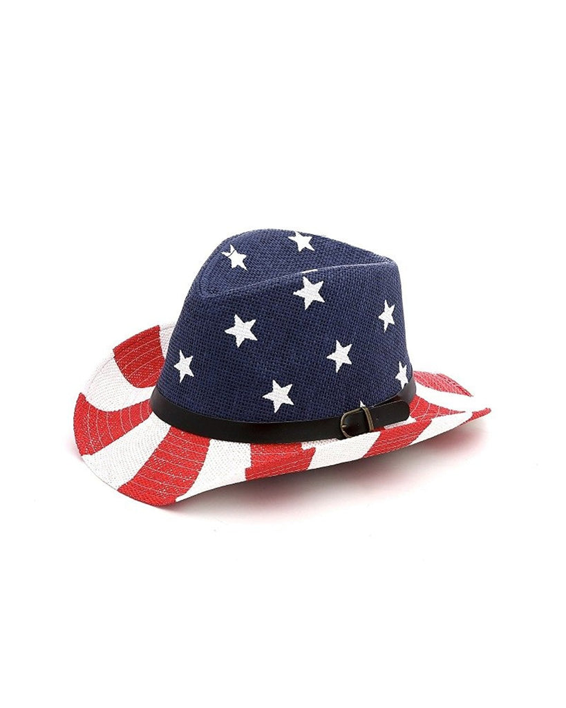 USA Flag Paper Cowboy Hat