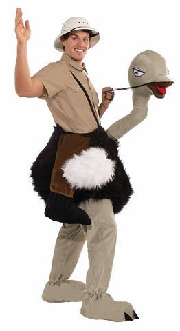 Forum Novelties Men's Riding An Ostrich Plush Mascot Costume