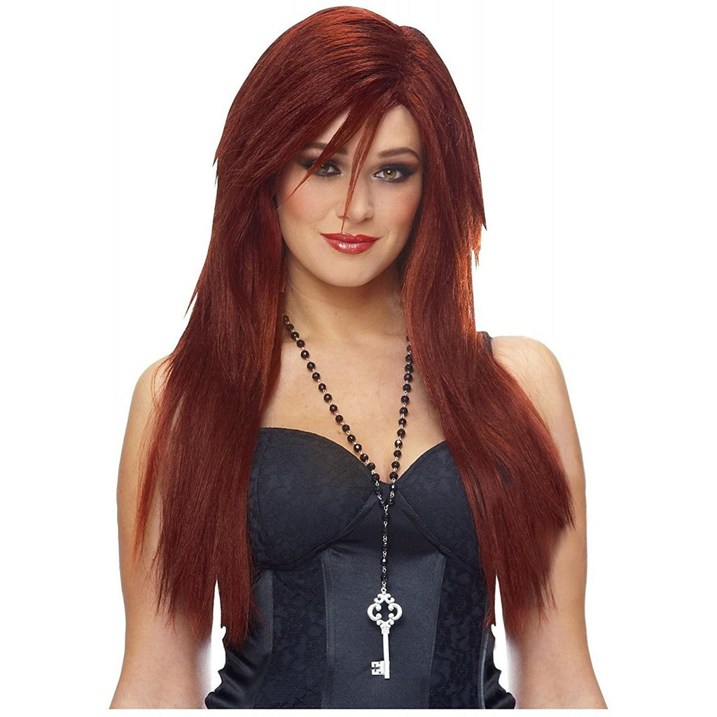 Deluxe Natural Red Sleek Red Wig