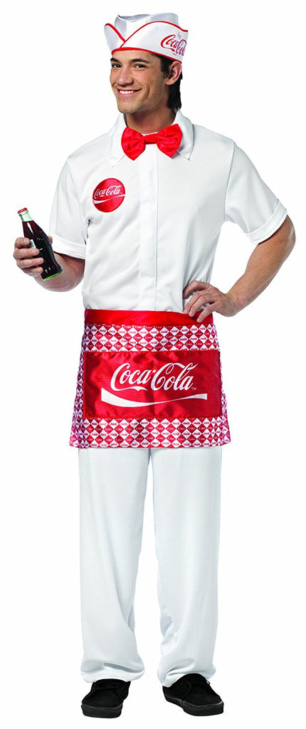 Coca-Cola Soda Jerk One Size Costume