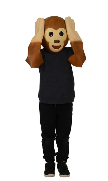 "Emoji ""See No Evil, Hear No Evil Monkey"" Latex Mask & Hands"