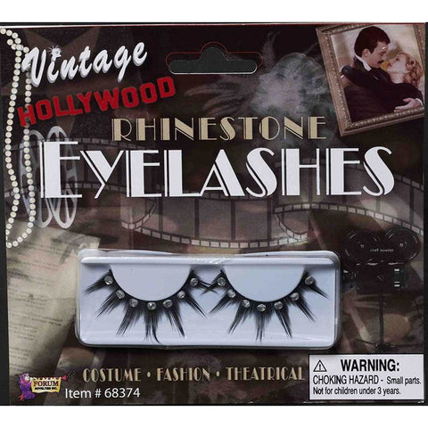 Vintage Hollywood Rhinestone Eyelashes Theater Costume Appliance