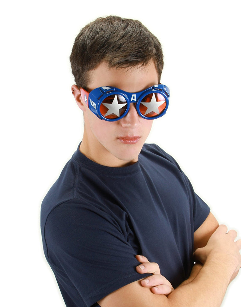 Captain America One Size Adult Goggle Glasses