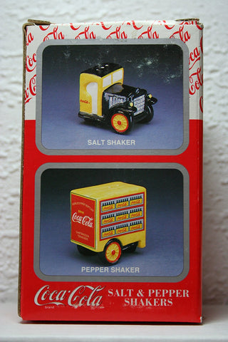 Coca Cola Delivery Truck Salt and Pepper Shakers