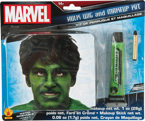 Marvel Hulk Adult Makeup and Wig Kit