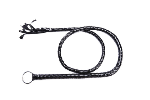 Pianola Lingerie Braided Leather Bull Whip