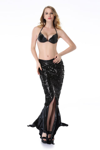 Pianola Lingerie Black Wet Look Mermaid Dress