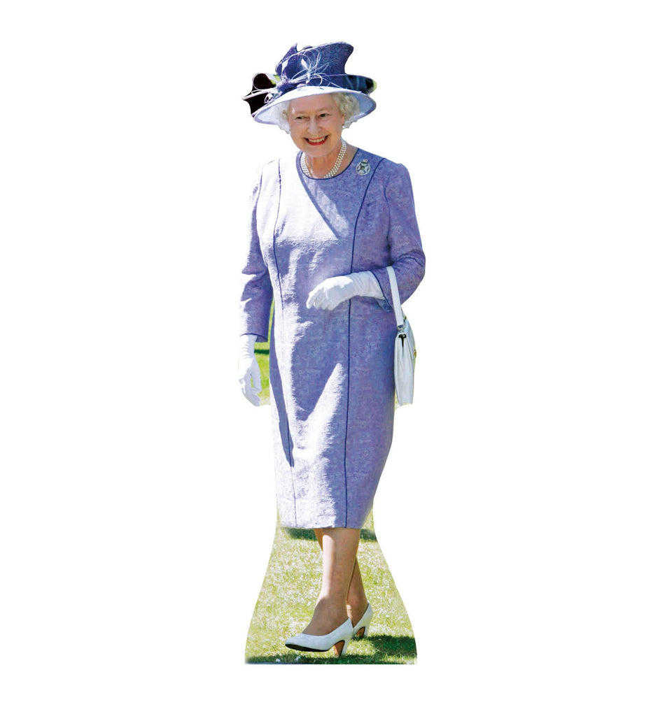 Queen Elizabeth Lilac Dress Cardboard Standup