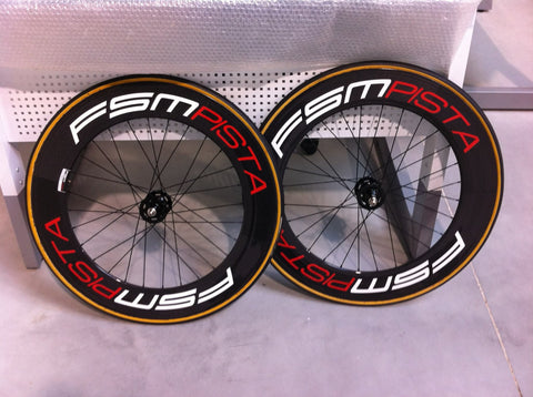 FSM Carbon track wheelset 88mm