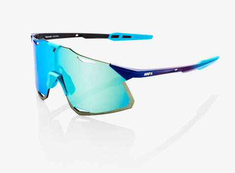 100% HYPERCRAFT - Matte Metallic Into the Fade - Blue Topaz Multilayer Mirror Lens