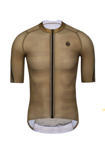 MONTON SPORT 2021 MENS SHORT SLEEVE CYCLING JERSEY PRO CARBONFIBER BROWN