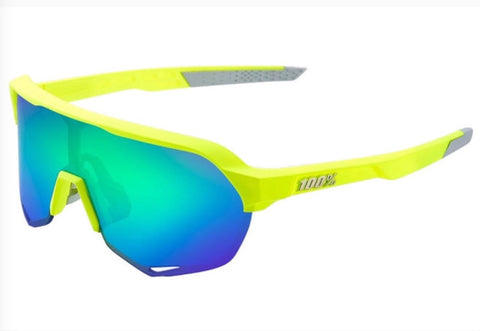 100% S2 Matte Fluorescent Yellow Green Multilayer Mirror Lens