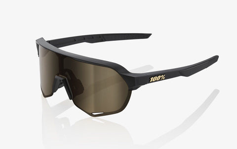 100% S2 Matte Black Soft Gold Lens