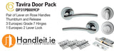 Tavira Handle,Lock And Hinges Door Pack Chrome